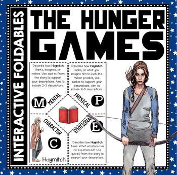 The Hunger Games: Reading and Writing Interactive Notebook Foldable