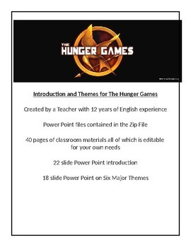 The Hunger Games - Introduction and Themes