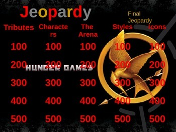 The Hunger Games Jeopardy