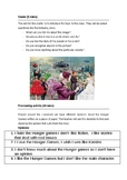 The Hunger Games  Lesson plan