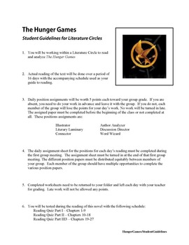 The Hunger Games Literature Circle