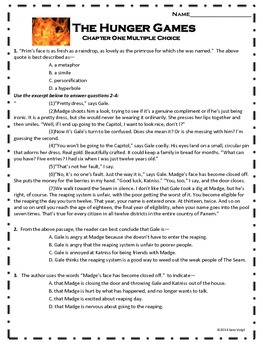 The Hunger Games Multiple Choice Chapter One Questions