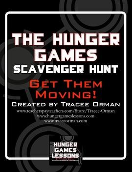 The Hunger Games Novel Scavenger Hunt Review Activity