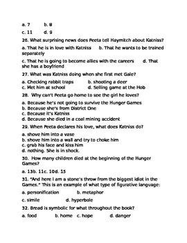 The Hunger Games Novel- Test Ch 7-12