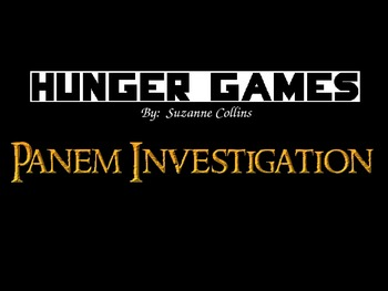 The Hunger Games - Panem Investigation - Compare to U.S. or Roman Empire