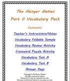 The Hunger Games Part II Vocabulary Pack