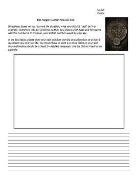 The Hunger Games: Personal Seal Activity