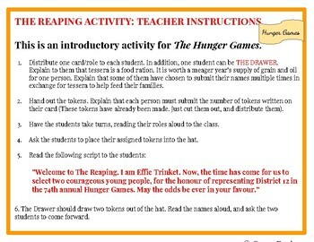 what is each district known for in the hunger games