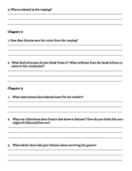 The Hunger Games Study Guide
