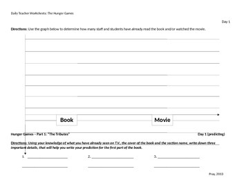The Hunger Games Teacher Worksheet