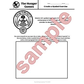 Hunger Games Unit Bundle Literary Analysis Activities & Writing