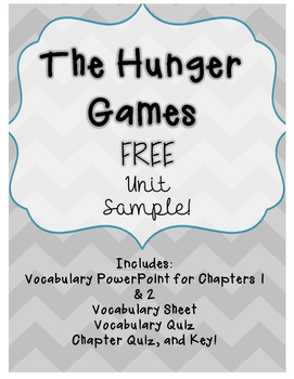 The Hunger Games- Unit Sample!! Free!!