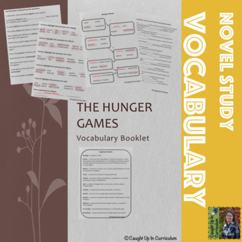 The Hunger Games Vocabulary Booklet