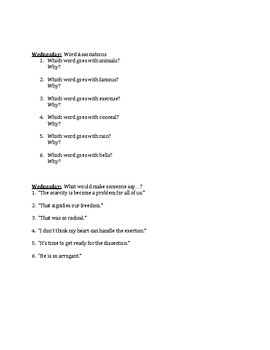 The Hunger Games Vocabulary Unit #8