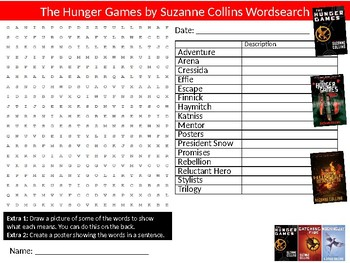 The Hunger Games Wordsearch Puzzle Sheet Keywords English Literature Novel