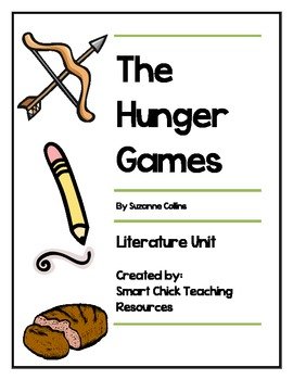 The Hunger Games, by S. Collins, Literature Unit, 105 total pages!!