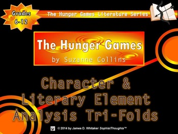 The Hunger Games by Suzanne Collins Character & Plot Analysis Tri-Folds
