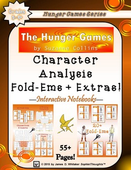 The Hunger Games by Suzanne Collins Character & Plot Analysis Fold-Ems