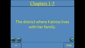 The Hunger Games by Suzanne Collins Jeopardy PowerPoint Game