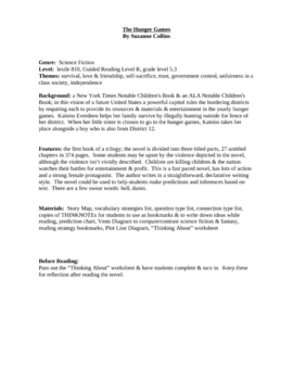 The Hunger Games guided reading plan