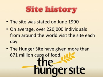 The Hunger Site Fighting World Poverty