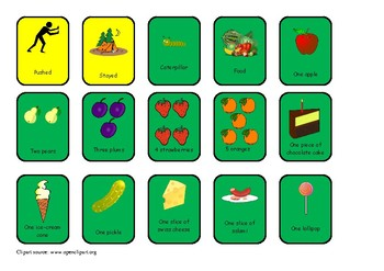 The Hungry Caterpillar Colourful Semantics