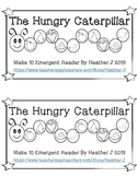 The Hungry Caterpillar Make 10 Emergent Reader (Math and L