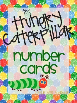 The Hungry Caterpillar Number Cards