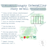 The Hungry Caterpillar Story Retell Activity for Expressiv