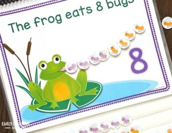 Frog Counting Book: Interactive Counting Book for Preschool, Pre-k, Kindergarten