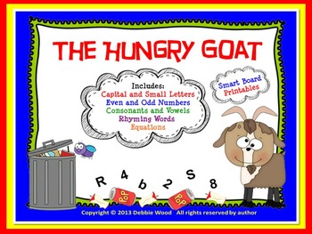 The Hungry Goat Smart Board, Game Board & Printables