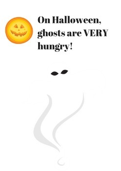 """The Hungry Halloween Ghost"" emergent reader"