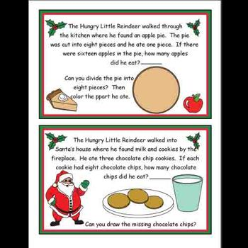 The Hungry Little Reindeer Kindergarten Math Workbook