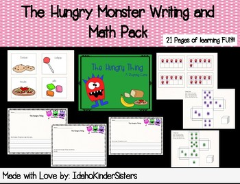 The Hungry Monster Writing and Math Pack