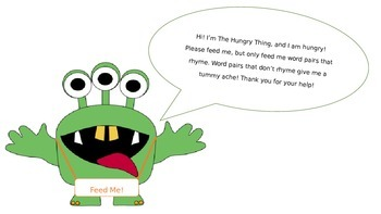 """""""The Hungry Thing"""" Rhyming Game"""