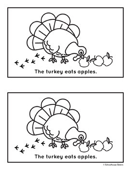 The Hungry Turkey - Thanksgiving Easy Reader & Worksheet
