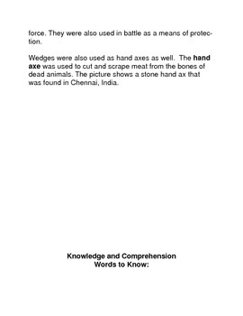 The Hunter Gatherers and the Wedge Common Core Reading and Writing Activities