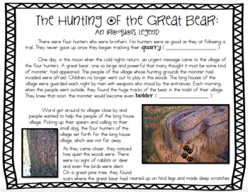 The Hunting of Great Bear: An Iroquois Legend
