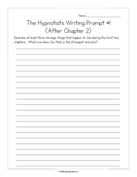 The Hypnotists by Gordon Korman Power Pack: 16 Writing Prompts and 16 Quizzes