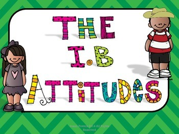 The IB Attitudes Posters for Big Kids