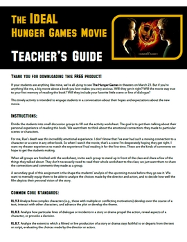 The IDEAL Hunger Games Movie - Group Activity