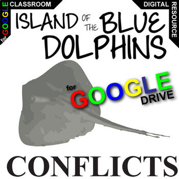 The ISLAND OF THE BLUE DOLPHINS Conflict Graphic Organizer (Created for Digital)