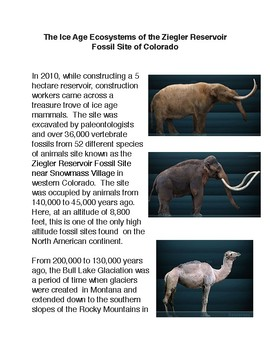 The Ice Age Ecosystems of the Ziegler Reservoir Fossil Site of Colorado