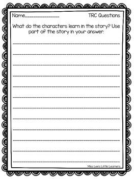 The Ice Cream Shop-A short reading passage with TRC question stem activities