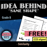 "The Idea Behind ""Same Shape"" Worksheet"