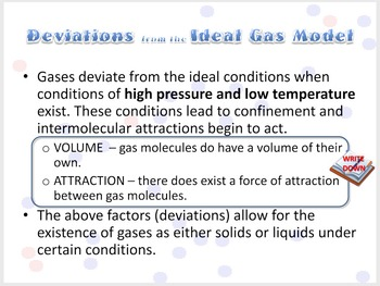 The Ideal Gas: Assumptions of the Gas Laws