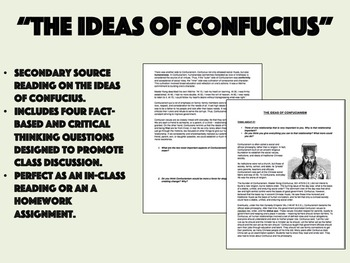 """""""The Ideas of Confucius"""" - Religions/Belief Systems - Global/World History"""