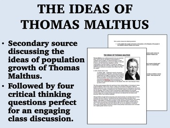 The Ideas of Thomas Malthus - Global/World History