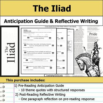 The Iliad - Anticipation Guide & Reflection