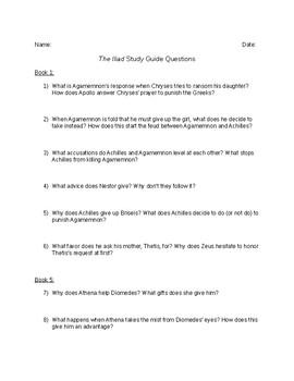 The Iliad Discussion Guide